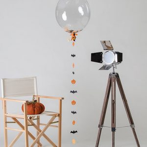 halloween confetti filled balloon