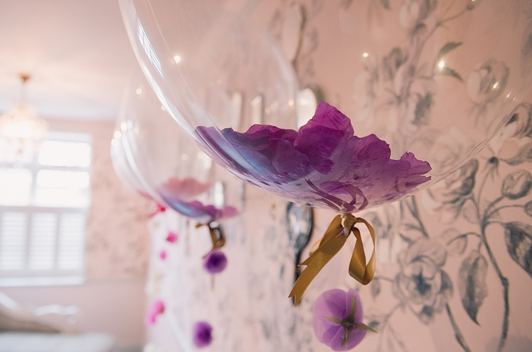 Purple Flower Wedding Balloons