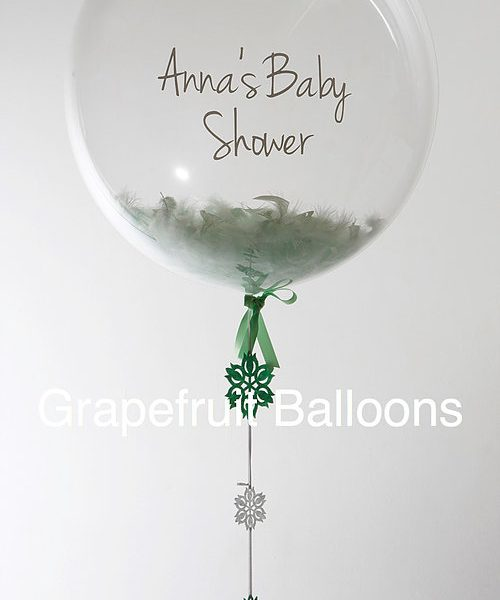 Personalised Mint Green Baby Shower Balloon