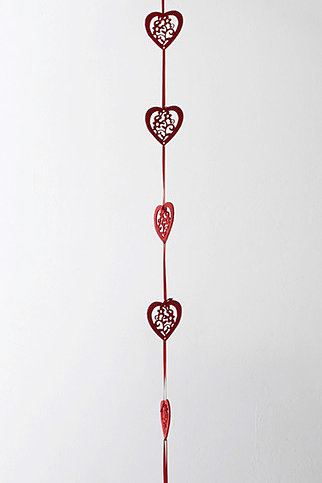 Red Heart Feather Balloon Tail