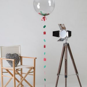 christmas confetti filled balloon