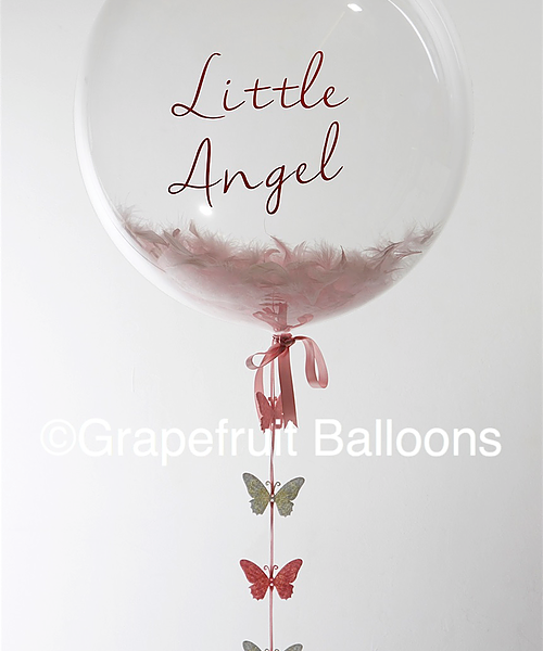 Butterfly feather filled balloon