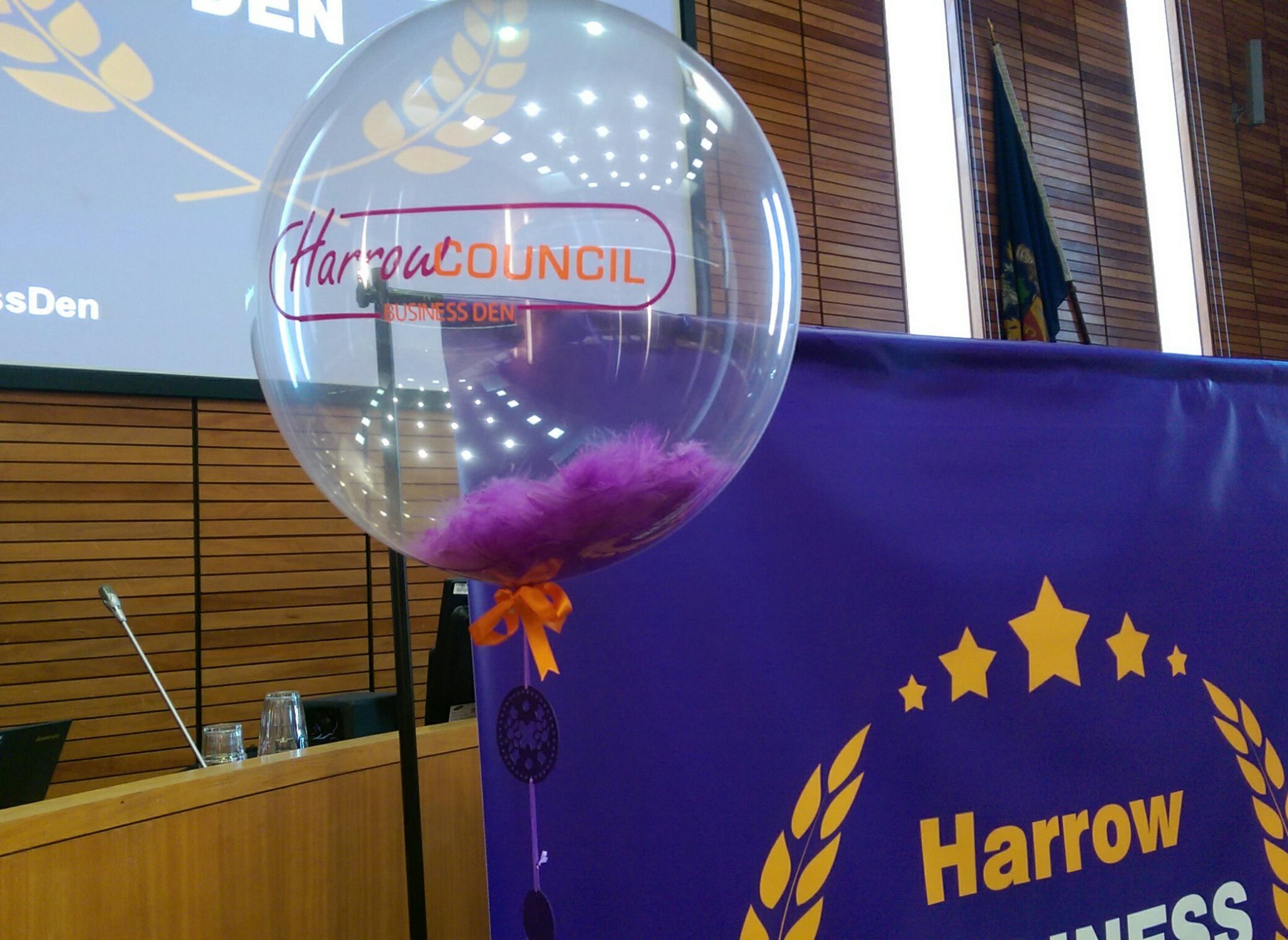 Feather Corporate branded balloon