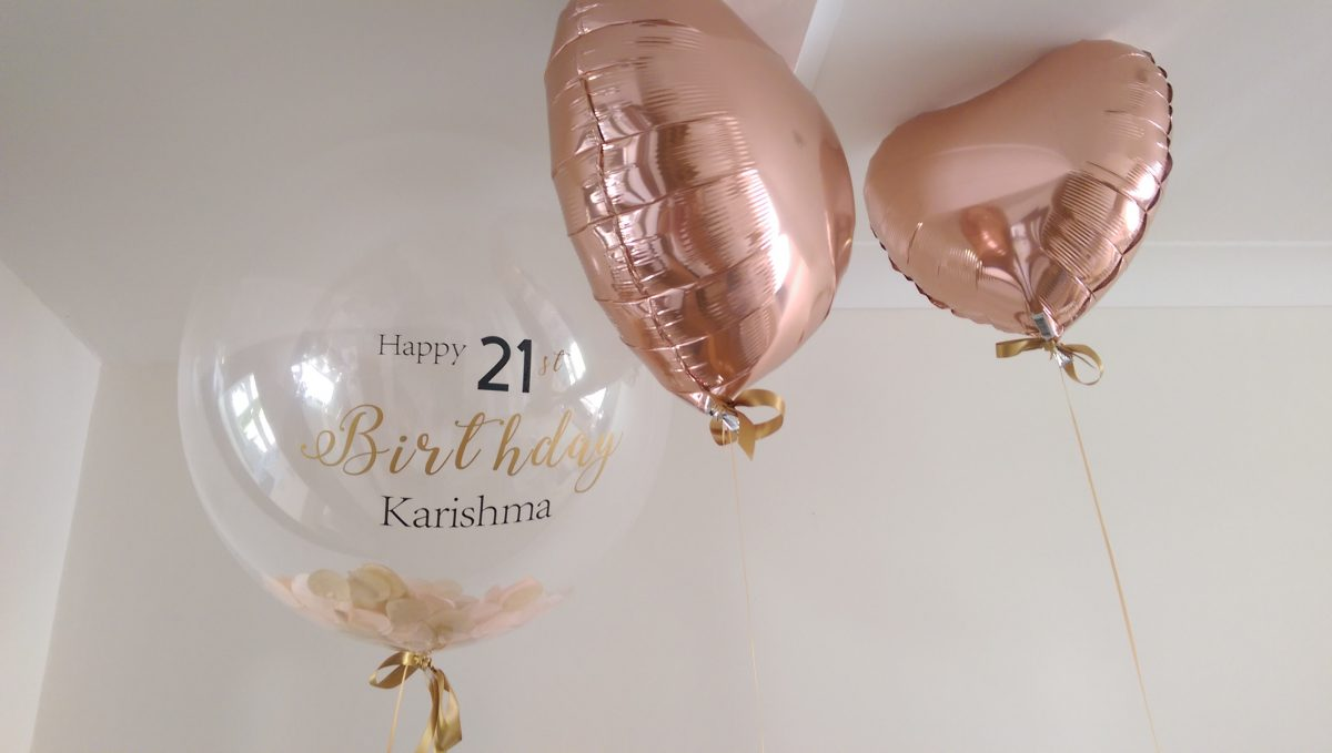 Personalised Feather Confetti Balloons for Special Events