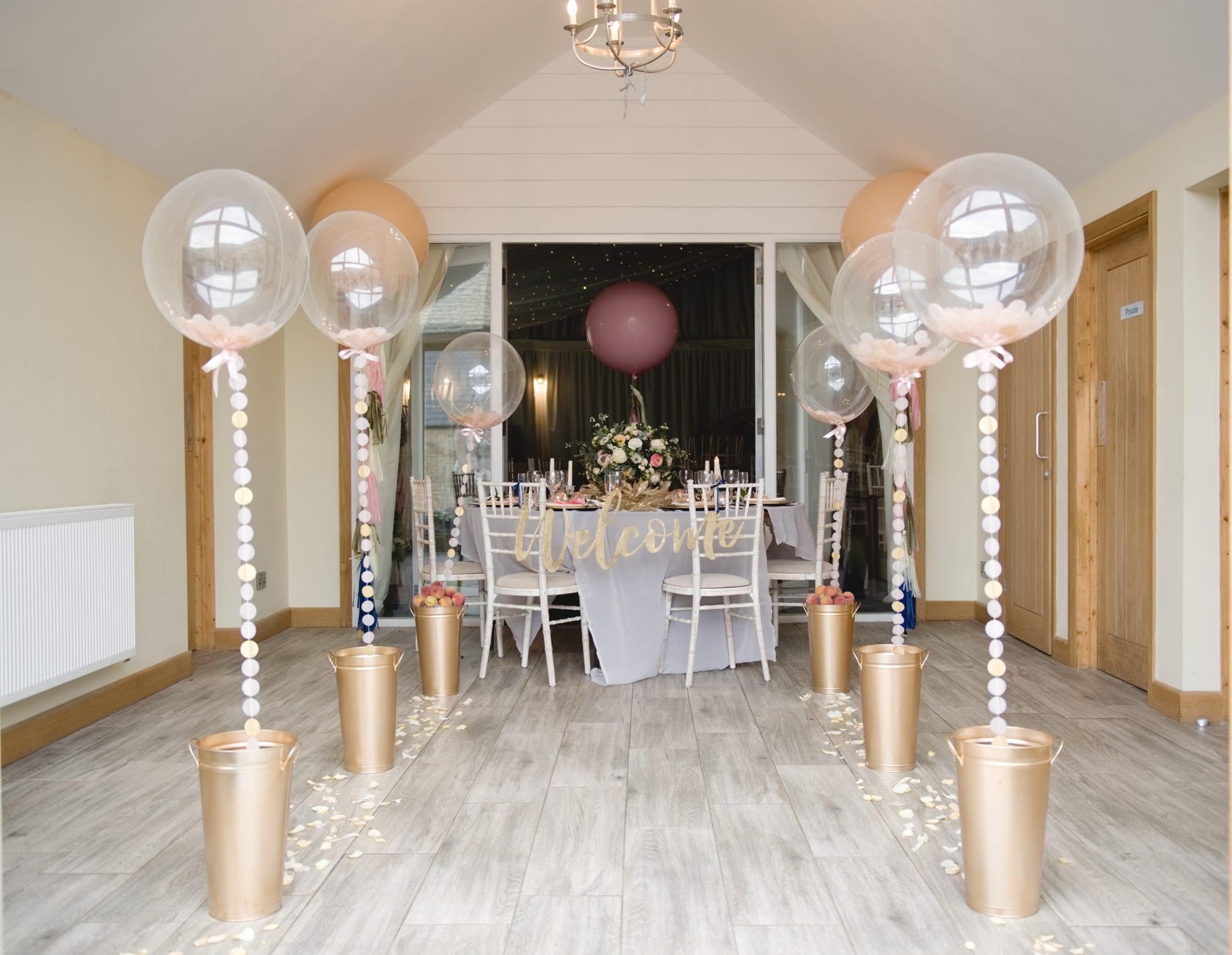 Elegant Wedding Balloons Floral And Confetti Balloons For Wedding Decor