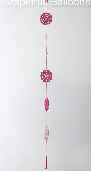 Pink Feather Filled Balloon for Birthday