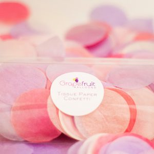 purple blend round tissue paper confetti