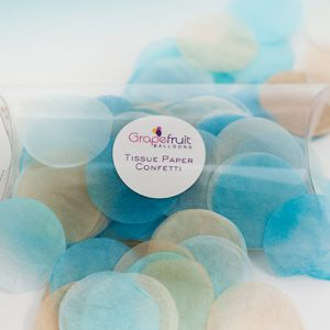 light blue round tissue paper confetti
