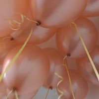 Rose gold latex balloons
