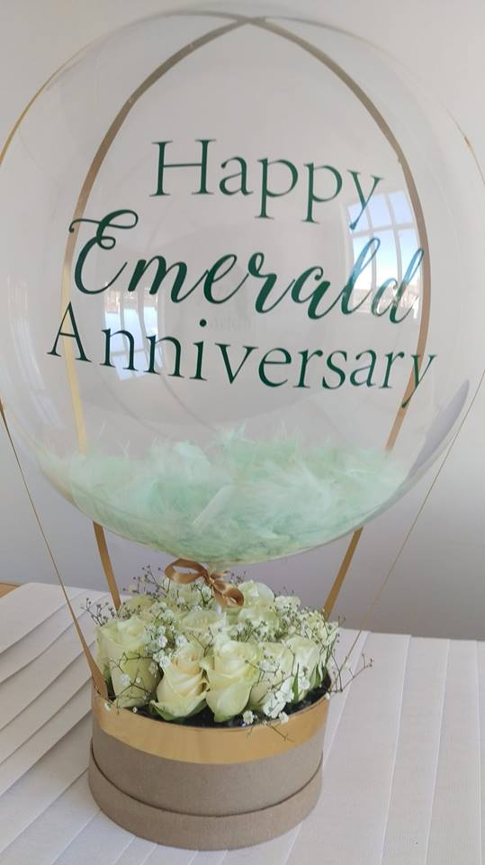 Emerald Anniversary Balloon