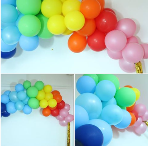 Organic Balloon Rainbow