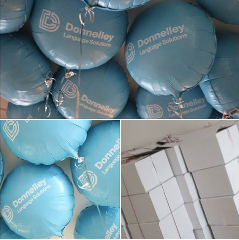 Branded Foil Balloons in a Box